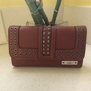New Nicole Lee wallet with studs